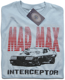 Mad Max V8 Interceptor T Shirt (Light Blue)