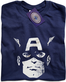Captain America (Face) T Shirt
