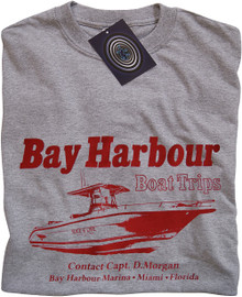 Bay Harbour Boat Trips (Grey) T Shirt