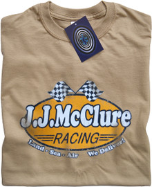 J J McClure (The Cannonball Run) T Shirt (Tan)