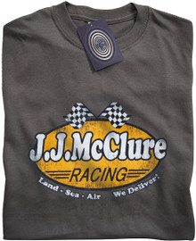 J J McClure (The Cannonball Run) T Shirt (Grey)