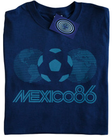 Mexico 86 T Shirt (Navy Blue)