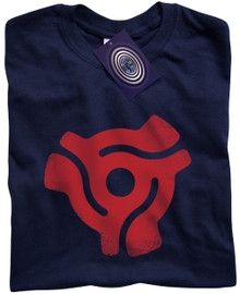 "7"" Single Centre Adaptor T Shirt (Blue)"