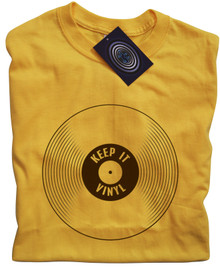 Keep It Vinyl T Shirt (Yellow)