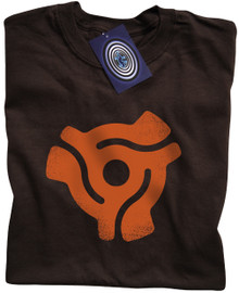 "7"" Single Centre Adaptor T Shirt (Brown)"