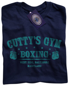Cutty's Gym T Shirt (Navy Blue)