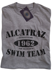 Alcatraz Swim Team T Shirt (Grey)