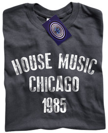 House Music Chicago T Shirt (Dark Grey)