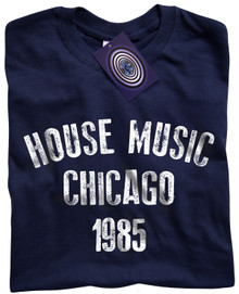 House Music Chicago T Shirt (Blue)