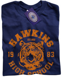 Hawkins High School (Stranger Things) T Shirt (Navy)