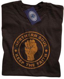 Northern Soul T Shirt (Brown)