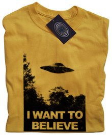 I Want To Believe T Shirt (Yellow)