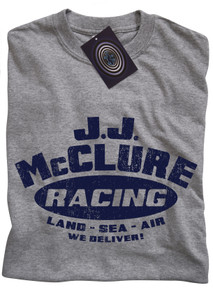 J J McClure T Shirt (Grey)