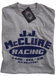 J J McClure T Shirt (Grey)