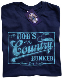 Bob's Country Bunker T Shirt (Blue)