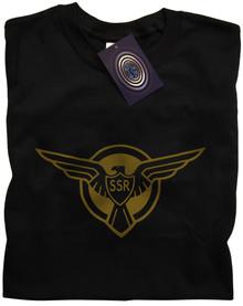 Captain America SSR logo T Shirt (Black)