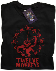 Twelve Monkeys T Shirt (Black)