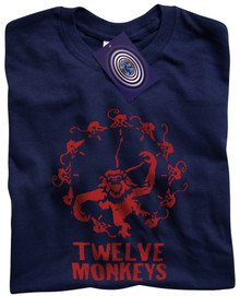 Twelve Monkeys T Shirt (Blue)
