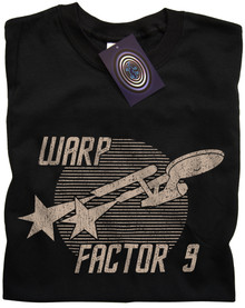 Warp Factor 9 T Shirt (Black)