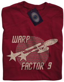 Warp Factor 9 T Shirt (Red)