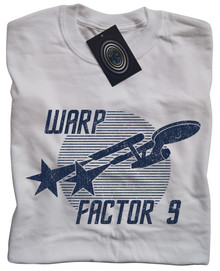 Warp Factor 9 T Shirt (White)