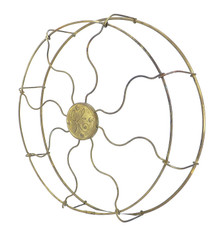 "Original 12"" Brass GE Drop Ring Wrapped Cage/Guard"
