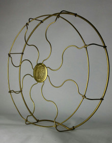 "Original 16"" Hunter Electric Brass Drop Ring Wrapped Cage"