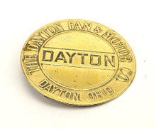 "Brass ""The Dayton Fan & Motor Co"" Fan Badge"