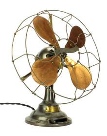 """Industrial 12"""" Verity Jr. Ball Motor Desk Fan  c. 1910"""