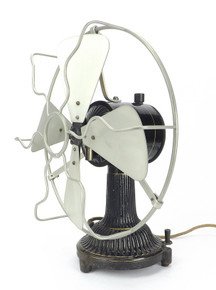 "Circa 1900 Dr. MAX LEVY 10"" Desk Fan"