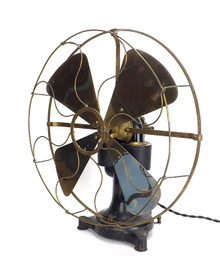 "1890's 16"" Western Electric Bipolar Desk Fan"