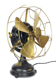 "1904 12"" GE Pancake Desk Fan ""Malden Electric Co."""