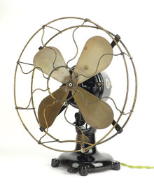 "12"" Colonial Tab Base Desk Fan Sold by James Clark Louisville KY"