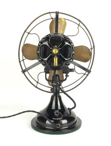 "12"" Century Electric Co. ""Skeletal"" Stationary Desk Fan"