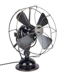 """1909 12"""" Adams Bagnall Jandus Wire Mount Desk Fan"""