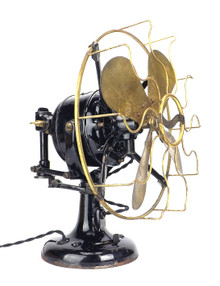 "1912 12"" Westinghouse Double Lever Oscillating Desk Fan"