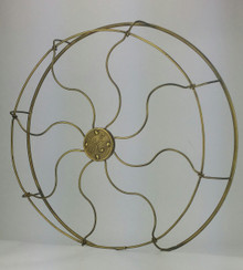 "Original 16"" 8 Wire GE Pancake Brass Cage/Guard"