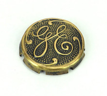 Original GE Thick Script Logo Cage/Guard Badge