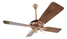 "1920's 52"" Fort Wayne Electric Ceiling Fan Copper Restored"