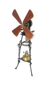 Professionally Restored Art Nouveau Design Hot Air Fan Jost