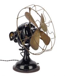 "Original 12"" GE Sidewinder Oscillating Desk Fan"
