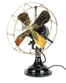 """1911 Century Skeletal 12"""" Oscillating Desk Fan 1st S3 Oscillator All Original"""
