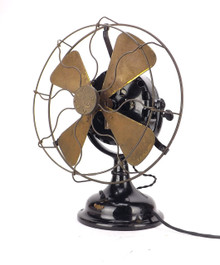 "Beautiful All Original 1907 12"" GE Pancake Desk Fan"