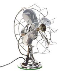 "1925 All Chrome 12"" Westinghouse Desk Fan"