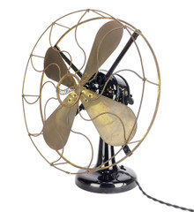 "Circa 1905 16"" Westinghouse ""Tank"" Motor Desk Fan"