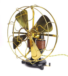 "Professionally Restored Circa 1897 12"" Western Electric Bipolar DC Desk Fan"