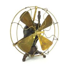 "Rare Early 1900's Dayton Water Powered 12"" Tripod Table Fan"