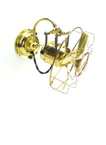 """Circa 1910 Restored 8"""" Westinghouse All Brass Phone Booth Fan"""