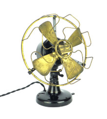 "Circa 1910 Robbins & Myers R & M 8"" Open Commutator Desk Fan"