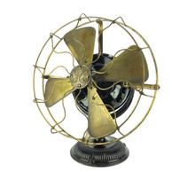 "Amazing All Original 1902 12"" GE Pancake Desk Fan"